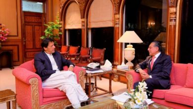 Munir Akram meets Imran Khan